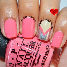 heartnat: OPI Coca-Cola Fishtail Nails