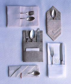 Napkin Folding with Silverware