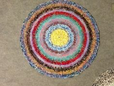 30 inch Handcrocheted Round Rug by gramsheart on Etsy, $45.00. SOLD