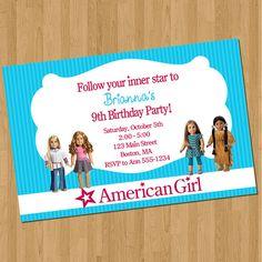 American Girl Doll Invitations