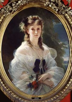 Franz Xaver Winterhalter - Portrait of Sophie Troubetskoy (1838-96) Countess of Morny
