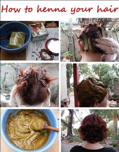 How to henna your hair -Not only is henna all natural, it is good for your hair. It seals in oils and tightens the cuticle.