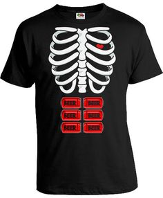 767e8c01 Halloween T Shirt Beer Skeleton Shirt Halloween Costume Gifts For New Dad  Ribcage T Shirt Drinking