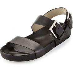 MICHAEL Michael Kors Sawyer Double-Band Sandal (£75) ❤ liked on Polyvore