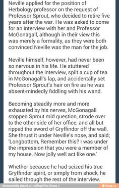 Sounds a bit English for Scottish McGonagall to say, but a good headcanon!