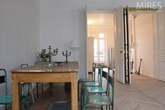 The eclectic vintage apartment: dining space, Paris.