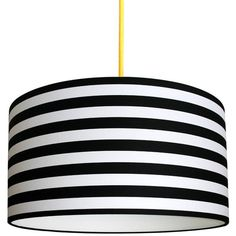 Love Frankie Circus Stripes Handmade Lampshade In Black And White (€38) ❤ liked on Polyvore featuring home, lighting, lamps, drum lamp-shade, black and white striped lamp, handmade lamps, striped lamp and drum light shade