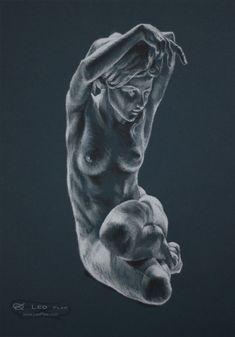 figure 13, Leo Plaw, 24 x 34cm, pastel pencil on paper #art #drawing #figureativeart