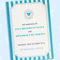 Just the Ticket printed wedding order of service Civil Ceremony, Wedding Ceremony, Wedding Order Of Service, Ticket Printing, Thank You Messages, A Day To Remember, On Your Wedding Day, Wedding Stationery, Getting Married