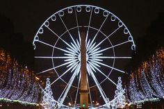 Winter in Paris - Melange Travel Christmas In Paris, French Christmas, Concorde, Snow And Ice, Light Art, Christmas Lights, Paris France, Ferris Wheel, Countryside