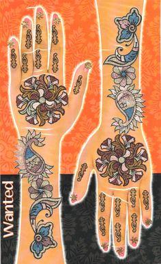 Glimmering Mehendi Tattoos - Multicolor Set #03