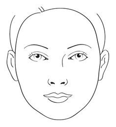 Click Here For Printable Pdf Of Blank Face Template Makeup Design