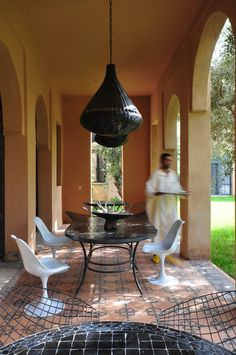 Peacock Pavilions boutique hotel in Marrakech, Morocco – Design by M. Montague - Terrace