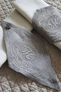 How Unique! Monogrammed Napkin rings~❥