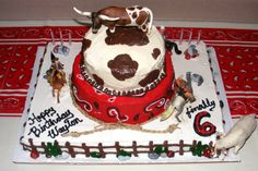 bday09_039.JPG - wild west party- my 1st stacked cake ever! All BC.