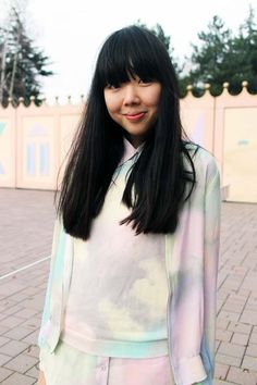 Susie Bubble in the all over rainbow print from Something Else.
