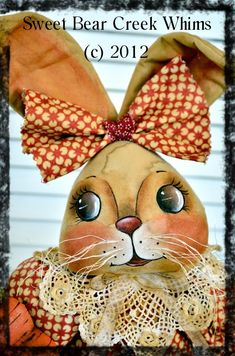 Primitive Bunny E-Pattern, Spring Doll pattern, Easter, rabbit pattern, Cloth doll pattern, Digital download pattern, PDF instant download
