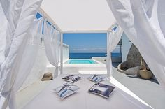 Columbo Blue is a beautiful two storey beach villa on Kulumbo beach on the main road to Oia only 4 min drive from Oia.Recently fully redesigned and re. Santorini Island, Beach Villa, Greece Islands, Back Road, Sailing, Vacation, House, Travel, Beautiful
