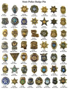 Highway Patrol and State Police Pins Military Ranks, Military Insignia, Military Police, State Police, Military Weapons, Police Officer, Law Enforcement Badges, Law Enforcement Agencies, Police Code