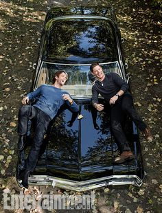 Supernatural won the EW cover competition! Jared and Jensen, being their wonderful selves!