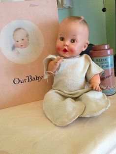 Has 1 Boo Boo. Left arm has crack. Think these PJ's are Mommy made. Baby Toys, Kids Toys, Rubber Doll, Gerber Baby, Plastic Doll, Vinyl Dolls, Old Dolls, Inner Child, Antique Toys
