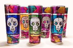 6 piece Day of the Dead shot set