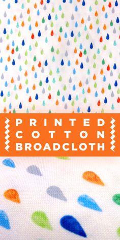 Colorful Raindrop Printed Cotton Broadcloth