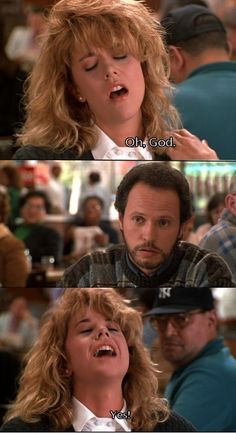 Orgasm (When Harry and Sally met) Classic scene!