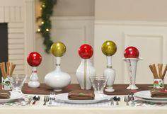 Table decor for Christmas.