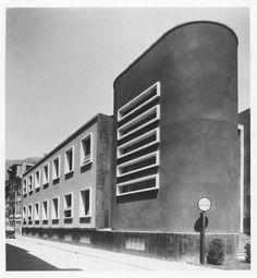 """Adalberto Libera, """"Scuola elementare Raffaello Sanzio"""", Trento, 1931-34…"""