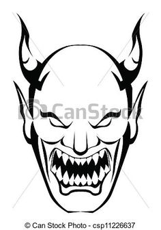 Vectors of demon head csp11226637 - Search Clip Art, Illustration ...