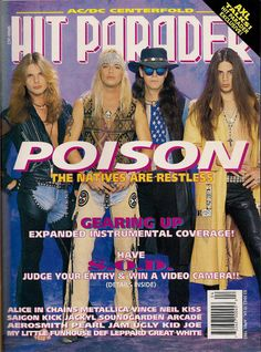 Image scans from hundreds of issues of Hit Parader, Circus, and more! (All credit for these images goes to the respective magazine owners, photographers,etc. 80s Metal Bands, 80s Hair Metal, 80s Rock Bands, 80s Hair Bands, Heavy Metal Bands, Rock & Pop, Rock N Roll, Poison Albums, Hard Rock
