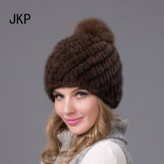 Hot sale real mink fur hat for women winter knitted mink fur beanies cap with fox fur pom poms 2015 brand new thick female cap #>=#>=#>=#>=#> Click on the pin to check out discount price, color, size, shipping, etc. Save and like it!