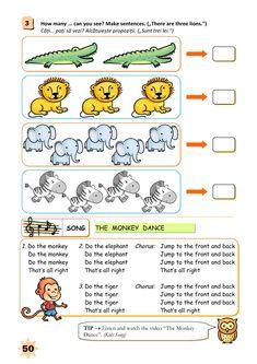 Clasa Pregătitoare : Limba engleză pentru clasa pregătitoare Monkey 2, Sentences, Homeschooling, Ali, Elephant, English, Songs, How To Make, Frases