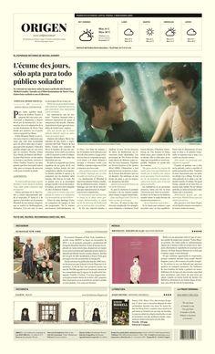 ORIGEN / Periódico - Newspaper by Krysthopher Woods #publication #editorial #layout