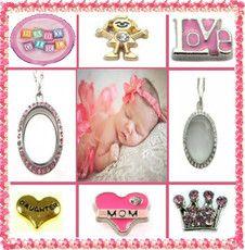 BABY GIRL PRE-DESIGNED LOCKET SET $29.95 http://www.sparklyexpressions.com/#1019
