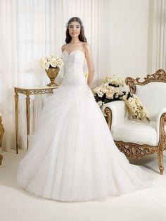 Perle di Delsa 2014 > P7435   Delsa Abiti da Sposa   Creazioni dal 1969