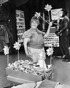 Margo, who sold pinwheels at the corner of Maxwell and Halsted, August 1963 (Chicago Pin of the Day, 5/28/2015).