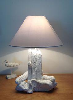 Driftwood Table Lamp Light Art Sculpture by COASTLINECRAFTS, £28.00