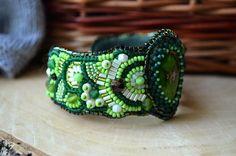 Green Jasper Bracelet Bead Embroidered от TaitallasHandmade