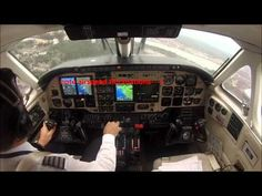 ▶ King Air 100 landing in turbulent weather - cockpit view! - YouTube