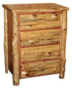 Amish Made Red Cedar Four Drawer Chest of Drawers