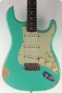 Fender CS / Custom Shop 1960 Heavy Relic Stratocaster / 2008 / Seafoam Green / Vintage Guitar