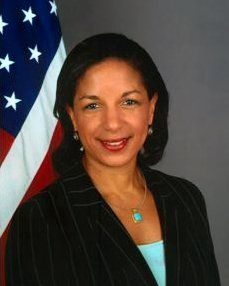 Susan Elizabeth Rice- an American diplomat and the current US Ambassador to the United Nations. Rice served on the staff of the National Security Council and as Assistant Secretary of State for African Affairs during President Bill Clinton's second term. Rice was confirmed as UN ambassador by the U.S. Senate by unanimous consent on January 22, 2009. She is the first African American woman to hold that office.