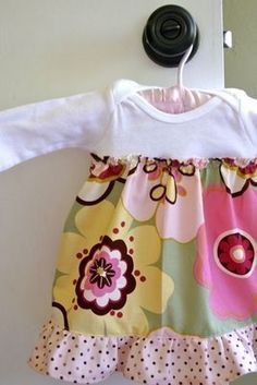 A Homemade Simple And Fun Made In 10 Minutes Onesie Dress