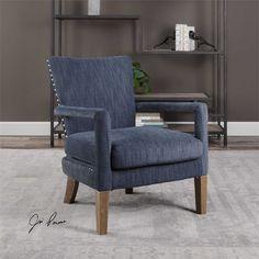 Uttermost Wallis Soft Blue Arm Chair