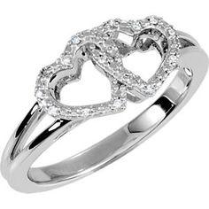 Locked Hearts Promise Ring    Cornerstone Jewelry