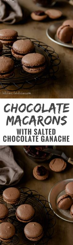 How to make chocolate macarons with salted chocolate ganache