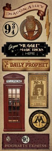 Creative Imaginations - Harry Potter Collection - Cardstock Stickers - Signs at Scrapbook.com $0.99