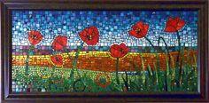 Poppies Mosaic Art Flowers